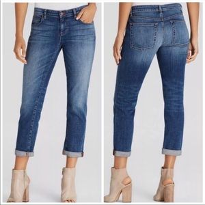 Eileen Fisher Organic Cotton Boyfriend Jeans Blue